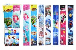 """60 Units of 23"""" Kite In Floor Display (licensed Characters) - Summer Toys"""