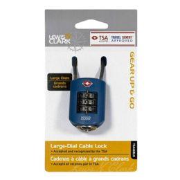 10 Wholesale Travel Size Padlock - Lewis N Clark Dial Cable Lock
