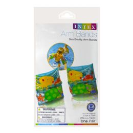 72 Units of Arm Bands - Intex Arm Bands Sea Buddy Ages 3 To 6 - Beach Toys