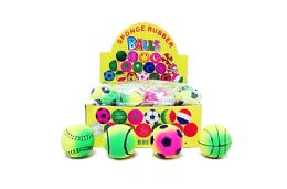 """72 Wholesale 2"""" Bouncy Sports Ball"""