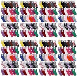 120 Units of Yacht & Smith Womens Wholesale Bulk Warm And Cozy Fuzzy Socks, Colorful Winter Socks - Womens Fuzzy Socks