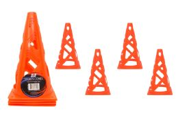 24 Units of 4 Piece Orange Flex Cones - Sporting and Outdoors