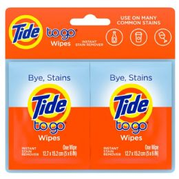 72 Units of Travel Size Tide To Go Instant Stain Remover Wipes 2 Count - Laundry Detergent