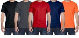 24 Bulk Mens Plus Size Cotton Short Sleeve T Shirts Assorted Colors Size 7XL