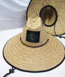 24 Units of Straw Pescador Hat With USA Eagle - Sun Hats