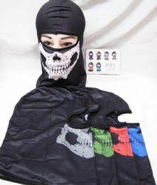 48 Units of Skull Face Mask Gaiters Face Mask Neck Gaiters Face Cover Scarf Breathable Gator Mask Cooling Bandana Skull Scarf - Unisex Ski Masks