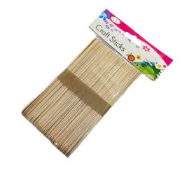 """72 Units of 50pc 6"""" Wooden Craft Sticks [natural] - Craft Wood Sticks and Dowels"""