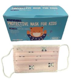 4 Units of Kids Three Layers Disposable Face Masks - Face Mask