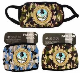 24 Units of City Of Saginaw Camo Color Face Mask - Face Mask