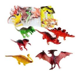 36 Wholesale 6pc Toy Dinosaur In Bag