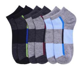 432 Bulk Men's Spandex Ankle Socks Size 0-12