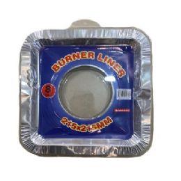 60 Units of 8 Piece Aluminum Burner Liners Square - Aluminum Pans