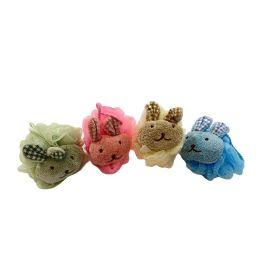 72 Units of Bath Sponge With Stuffed Animal - Loofahs & Scrubbers