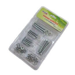 72 Units of Hardware AssortmenT- Nuts & Bolts - Hardware Miscellaneous