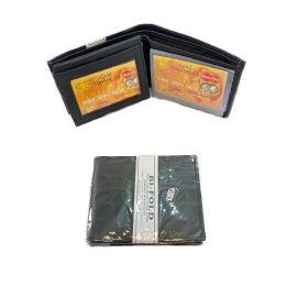 24 Units of Men's Leather Wallet [bI-Fold] - Leather Wallets