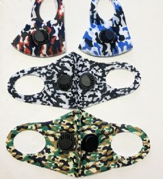 36 Units of Camo Mask With Double Filter - Face Mask