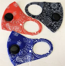 48 Units of Face Mask With Filter Fashion Design - Face Mask