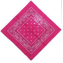 120 Units of Hot Pink Cotton Paisley Bandana - Bandanas