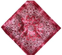 120 Units of Hot Pink Tye Dye Bandana - Bandanas