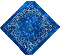 120 Units of Blue Tye Dye Bandana - Bandanas