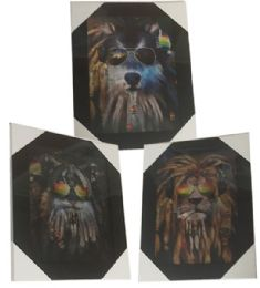 12 Units of Rasta Animal Canvas Picture Wall Art - Wall Decor