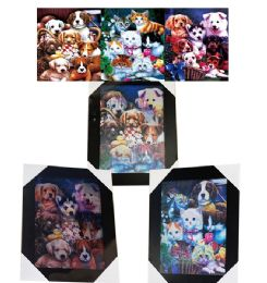 12 Units of Puppies And Kitties Canvas Picture Wall Art - Wall Decor