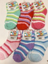 144 Bulk Women Thick Indoor Socks In Assorted Colors Size 4-8