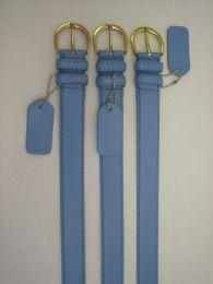 96 of Skinny Blue Belt Thin Waist Jeans Belt For Pants In Pin Buckle Belt