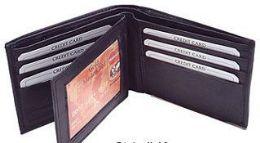 24 Units of Bi Folded Wallet In Black - Leather Wallets