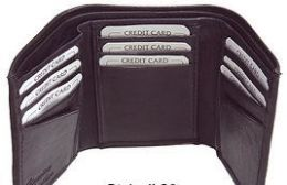 24 Units of Brown Leather Tri Folded Wallet - Leather Wallets