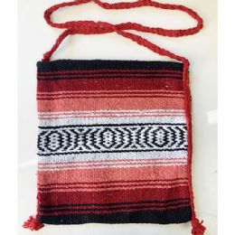24 Units of Mexican Blanket Crossbody Bag In Assorted Color - Shoulder Bags & Messenger Bags