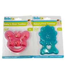 72 Wholesale Teether Blue And Pink Assorted