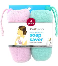 48 Units of 2 Piece Soap Saver Sponges Spa Savvy - Loofahs & Scrubbers