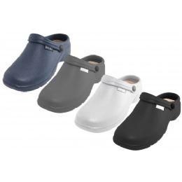 24 Units of Men's Sport Close Toe Rubber Nursing Clogs Assorted Colors - Men's Slippers