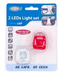 48 Wholesale 2 Piece Bicycle Lights