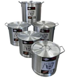 5 Piece Aluminum Pot With Steamer - Stainless Steel Cookware
