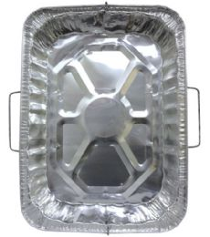 50 Units of Aluminum Tray Rectangle With Handle - Aluminum Pans