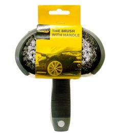 72 Units of Tire Brush With Handle - Auto Cleaning Supplies