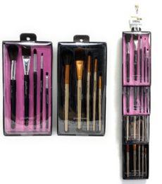 48 Bulk 5 Piece Glam And Beauty Make Up Brush Set