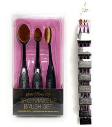 48 Bulk 3 Piece Glam And Beauty Make Up Brush Set