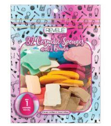 96 Bulk 32 Piece Cosmetic Sponge And Blender Revele