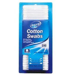 96 Bulk Amoray Cotton Swab Blister 500 Count