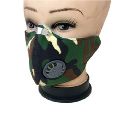 24 Units of Cloth Mask Camo With Filter - Face Mask