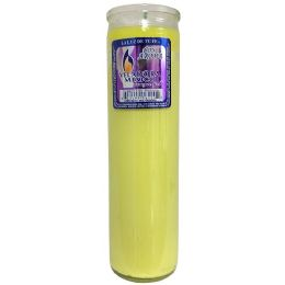 72 Bulk Veladora Yellow Solid Candle