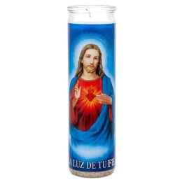 72 Bulk Veladora Sagrado Corazon Jesus Candle