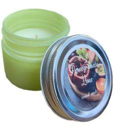 72 Bulk Candle Scented Pom Lime Jar