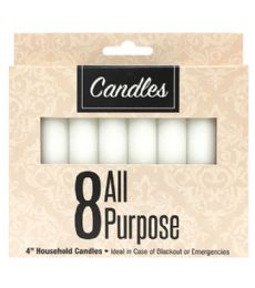96 Bulk 8 Piece 4 Inch All Purpose Candles