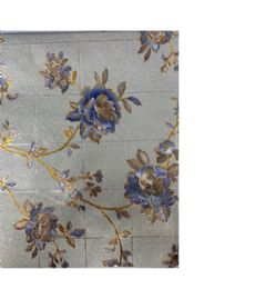 2 Wholesale Gold Blue With Flowers 20 Yards