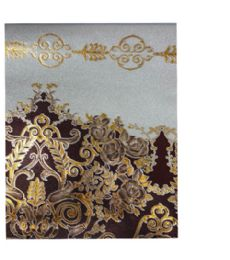 2 Wholesale Gold With Brown Flower Table Cover 20 Yards