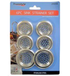 96 Units of 6 Piece Strainer Set - Plumbing Supplies